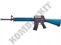 MC6620 M16A2 RIS Assault Rifle Gas Blowback Airsoft BB Machine Gun 2 Tone Blue Black